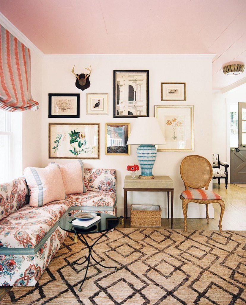 Дизайн интерьера. Этюд в розовых тонах.